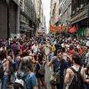Masiva movilización frente al Ministerio de Justicia y Derechos Humanos  para decir No a la Baja